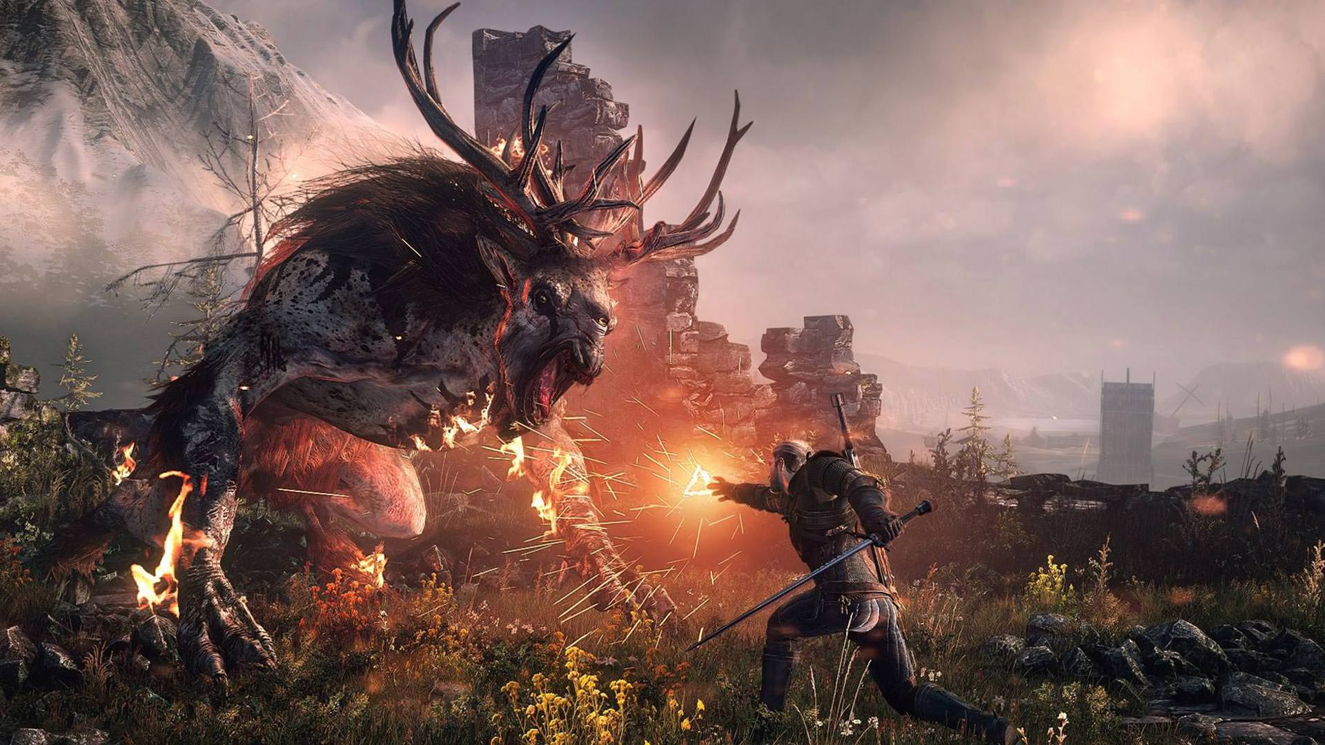 The-Witcher-3-Wild-Hunt-Killing-Monsters