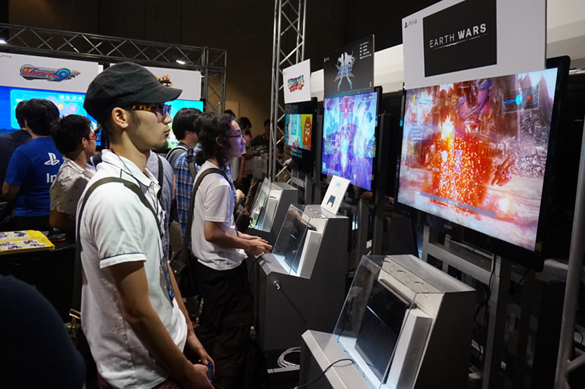 Gamers Playing at Bitsummit 2015