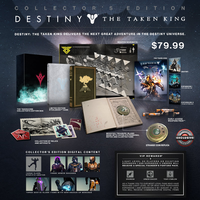 Destin The Taken King Collectors Edition