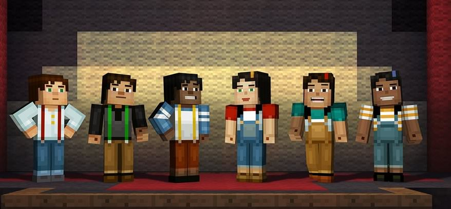 Selectable characters in Minecraft Story Mode