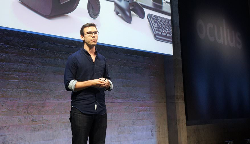 Oculus's Nate Mitchell at Unveiling of Touch