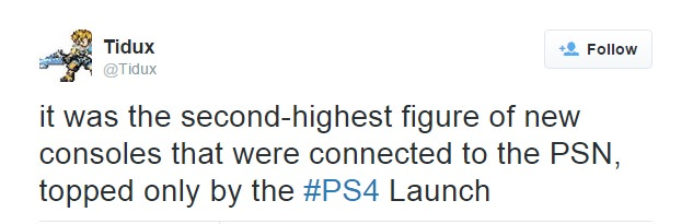 PS4 online on PSN user turned second highest record