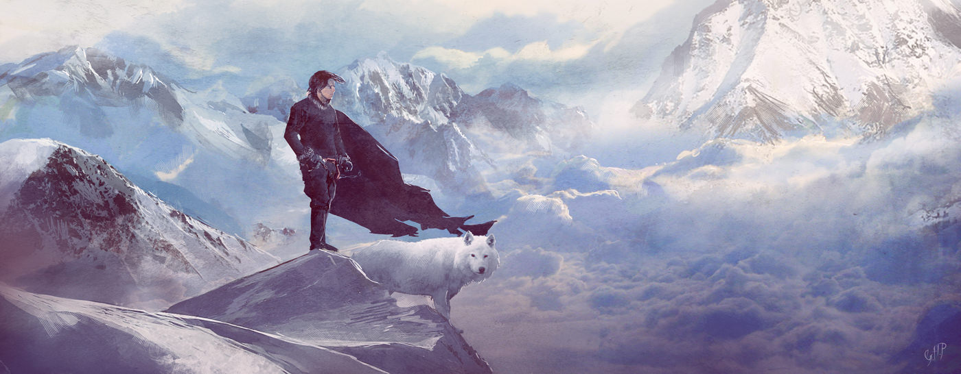 jon_snow_and_ghost_by_guillemhp-d4dbeqy