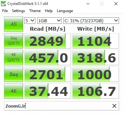 Zoomg MSI GT72S Crystall SSD 2