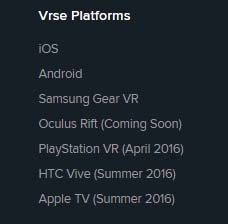 playstation vr release date by Vrse