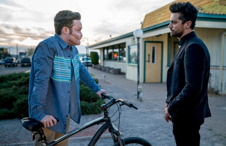 Ian Colletti as Arseface, Dominic Cooper as Jesse Custer - Preacher _ Season 1, Episode 4  - Photo Credit: Lewis Jacobs/Sony Pictures Television/AMC