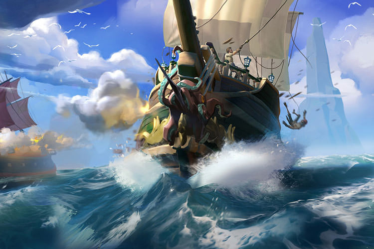 بسته الحاقی Forsaken Shores بازی Sea of Thieves تاخیر خورد