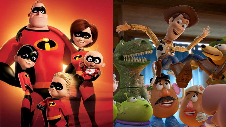 toy story and The Incredibles
