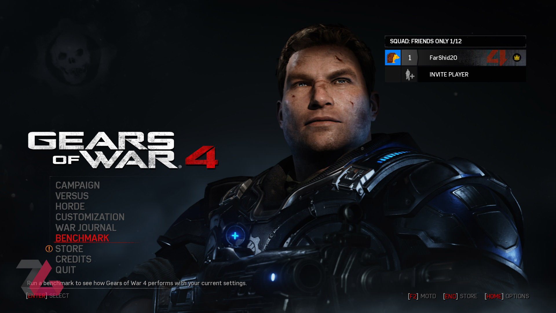 Gears of war 4 Main Menu PC Windows 10