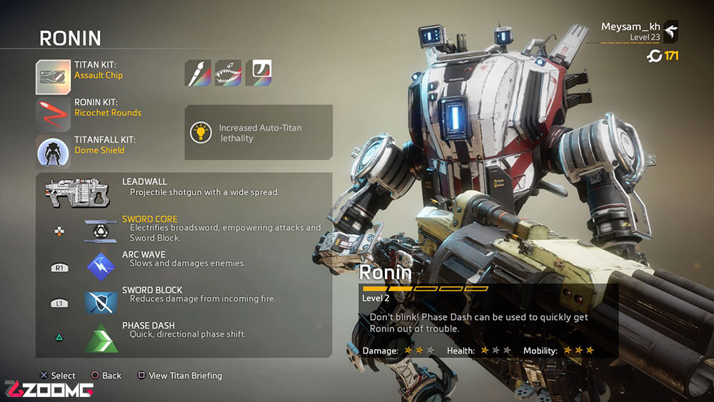 Titanfall 2 Guide Ronin
