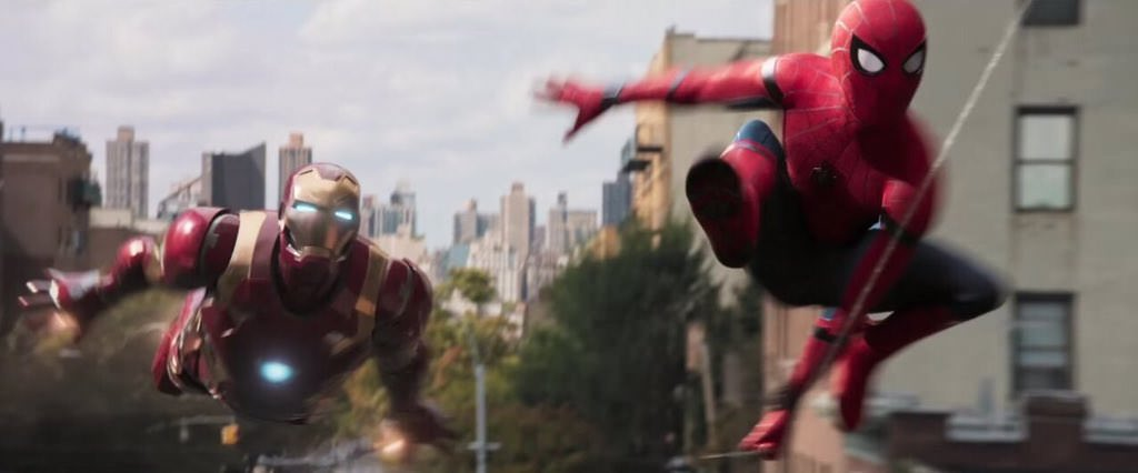 Spider-Man and Irom Man in Spider-Man: Homecoming