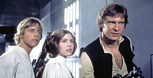 carrie fisher - mark hamil and in Harrison Ford star wars
