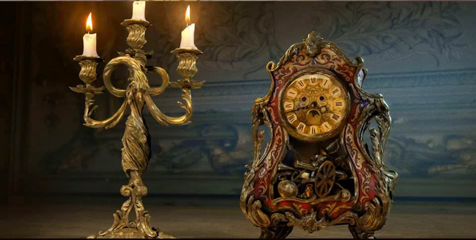 Beauty and the Beast Concept art for Lumière and Cogsworth