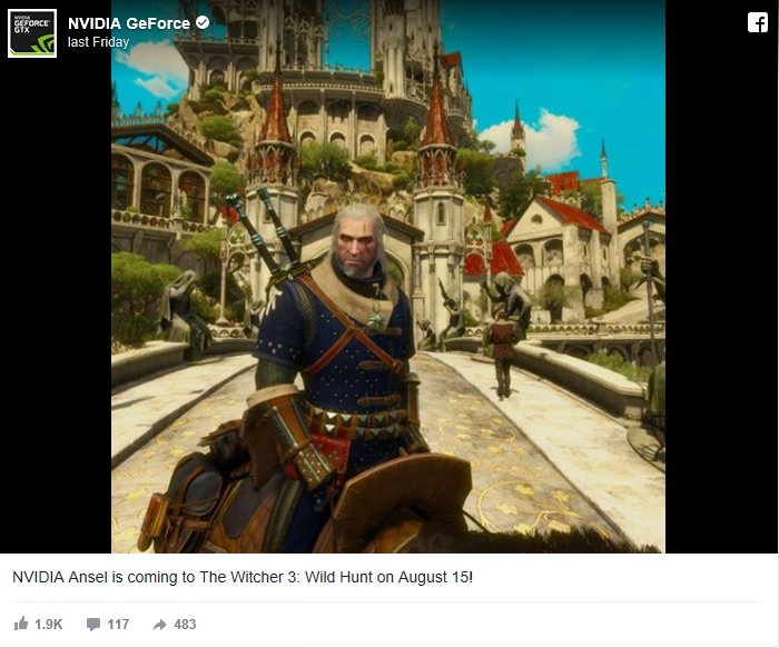 The Witcher 3 Ansel
