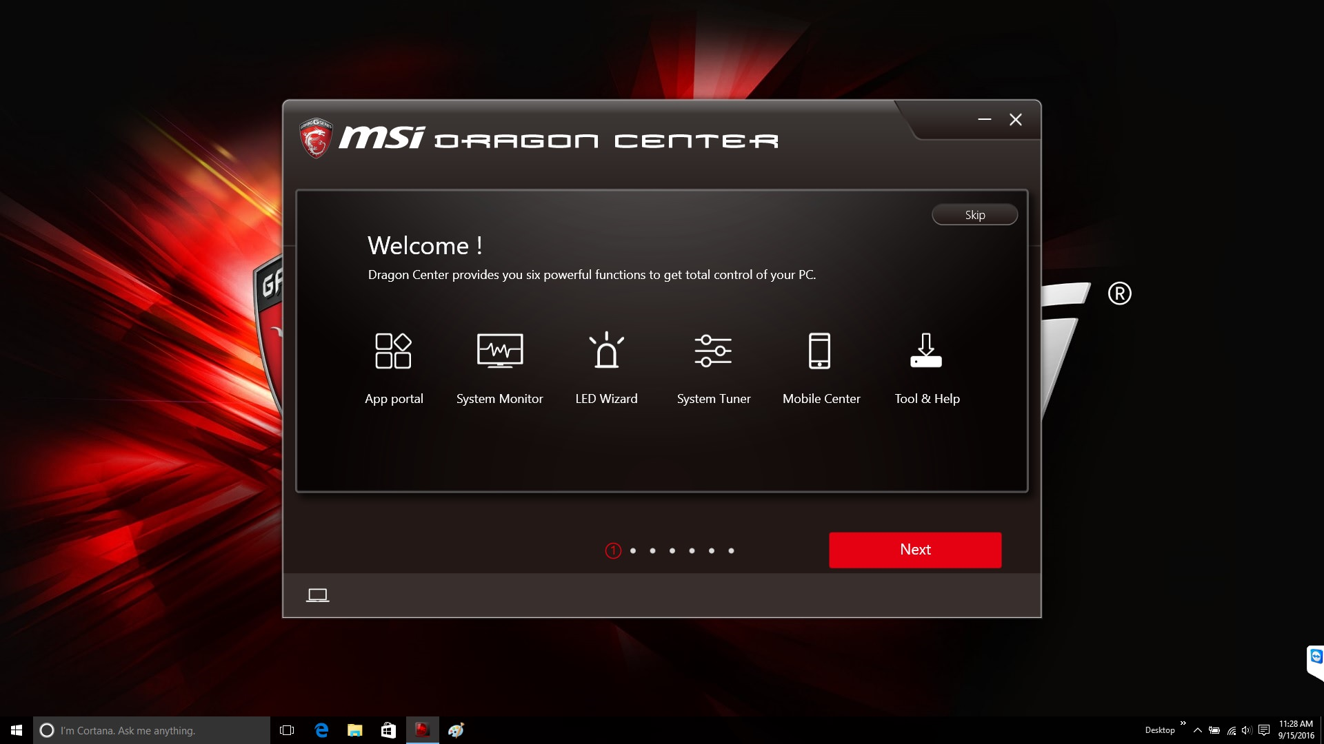 MSI Dragon Gaming Center