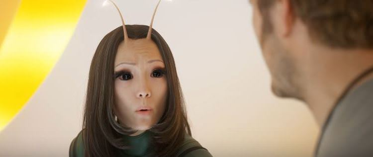 Klementieff as Mantis in the Guardians of the Galaxy Vol. 2
