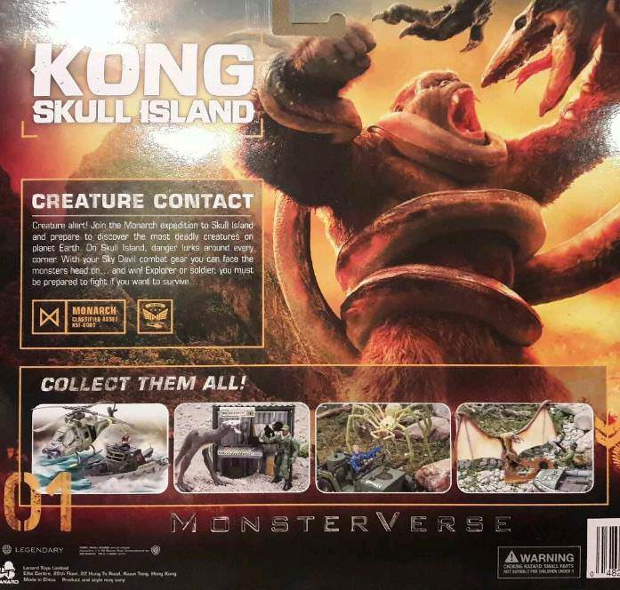 Kong: Skull Island box toy