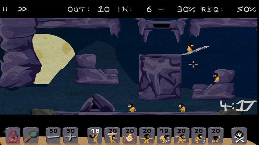 بازی Caveman HD Lemmings Way
