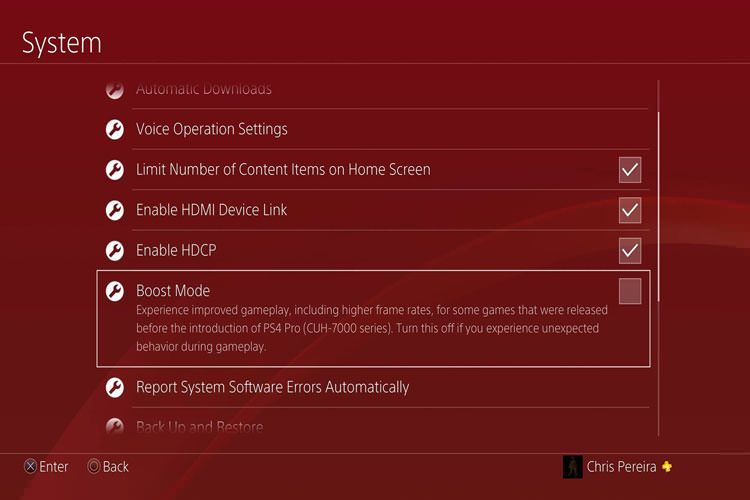 PS4 New Update