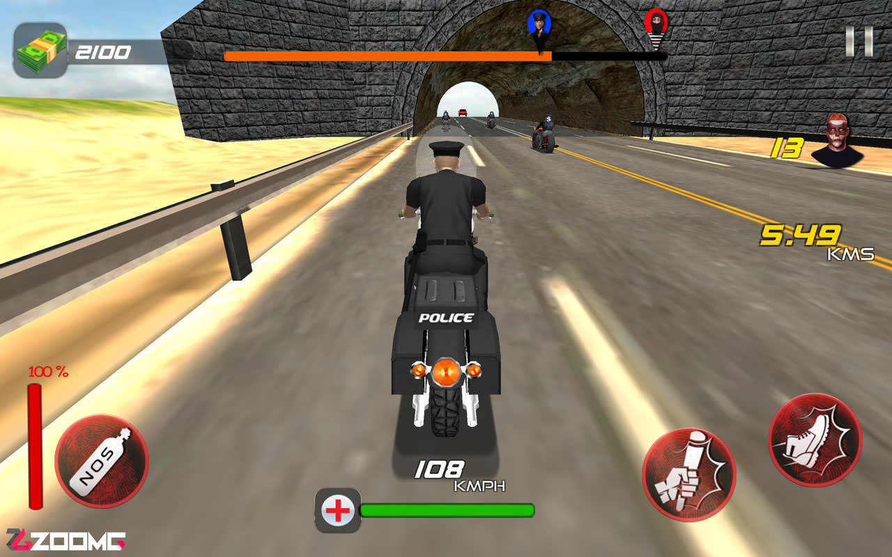 Police vs Thief MotoAttack ZoomG