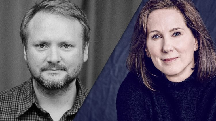 Star Wars: The Last Jedi director Rian Johnson and Lucasfilm president Kathleen Kennedy