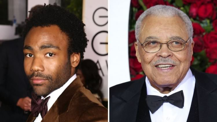 Donald Glover and James Earl Jones in The Lion King