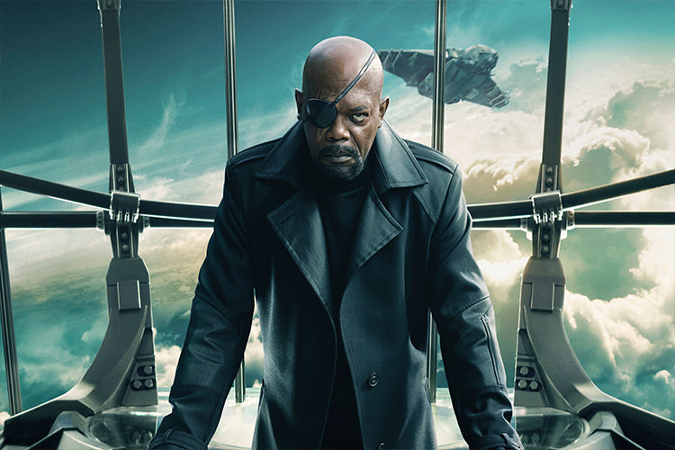 Nick Fury in Captain America: The Winter Soldier