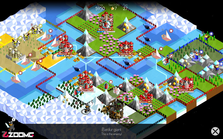 بازی The Battle of Polytopia Zoomg