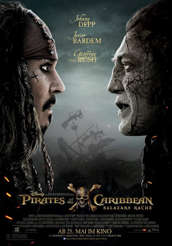 Pirates of the Caribbean: Dead Men Tell No Tales  New International Poster