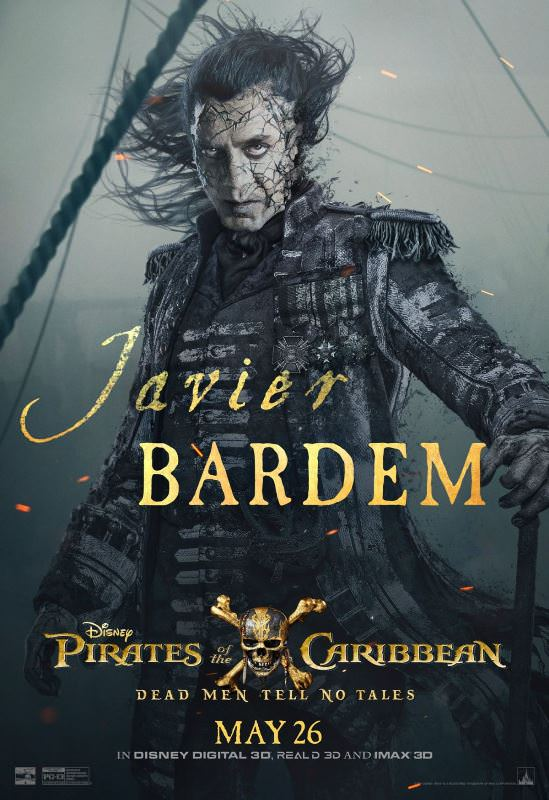 Pirates of the Caribbean: Dead Men Tell No Tales character posters