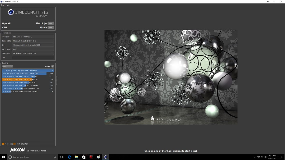 MSI GE62 7RE Cinebench AC