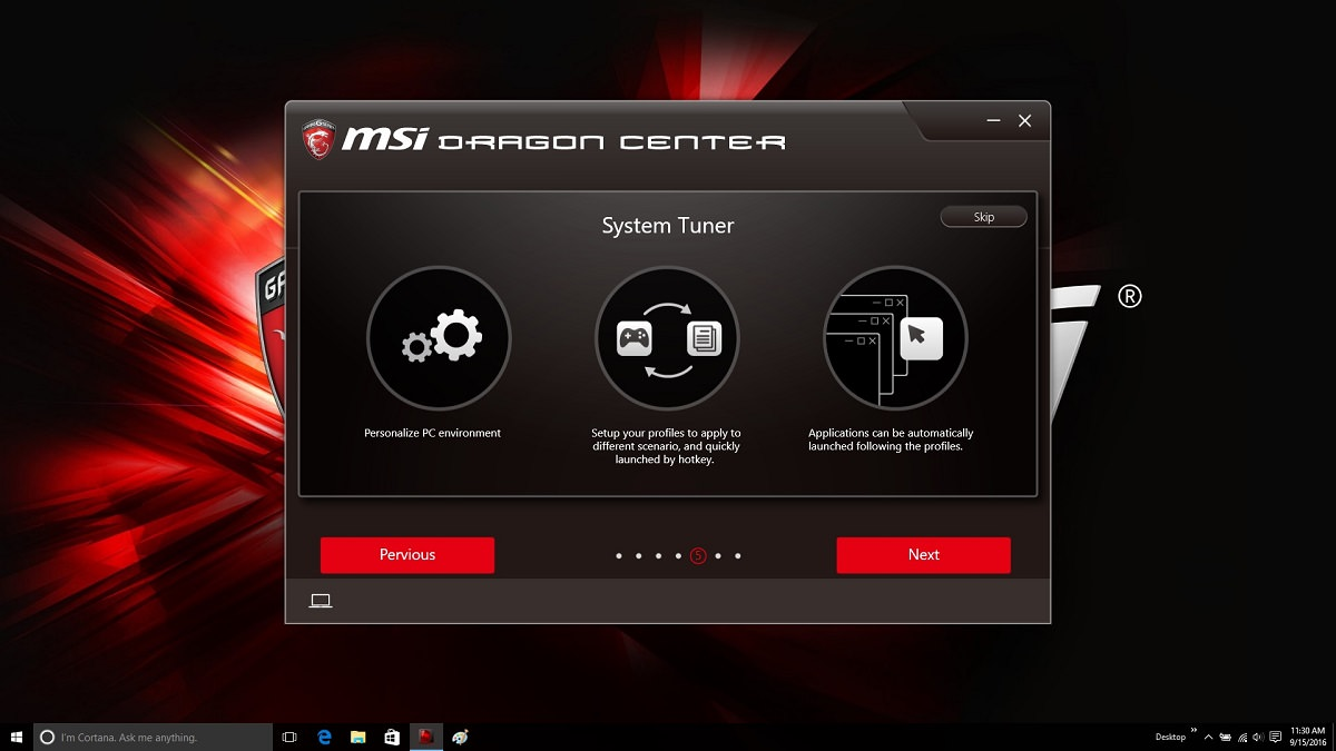 MSI GE62 7RE Dragon Center