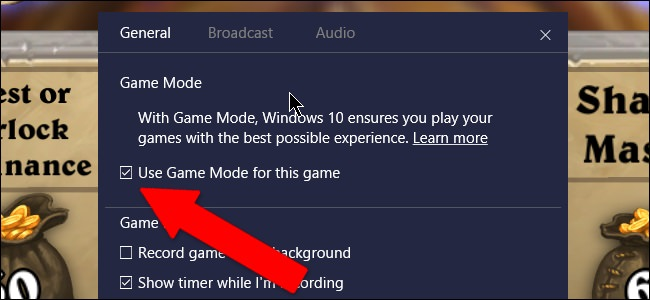Game Mode ویندوز 10