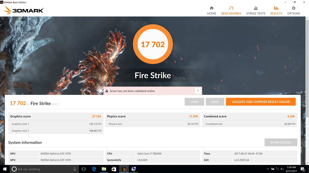 MSI GT73VR 7RE 3DMark 2013 Firestrike