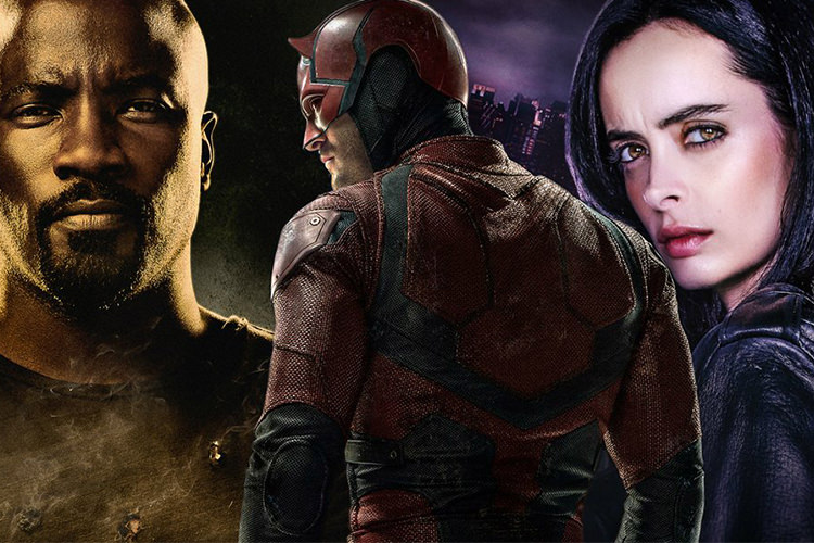 Daredevil and Jessica Jones and luke cage