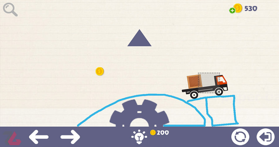 Brain On Physics Boxs Puzzles is a fun puzzle game where you need to draw lines and others things in order to get a truck where it supposed to be. If you don't already have the game you can download it here.