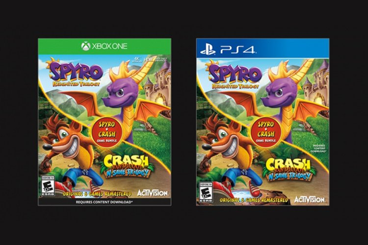 بازی Spyro Reignited Trilogy + Crash Bandicoot N. Sane Trilogy Bundle در ماه جاری منتشر می‌شود