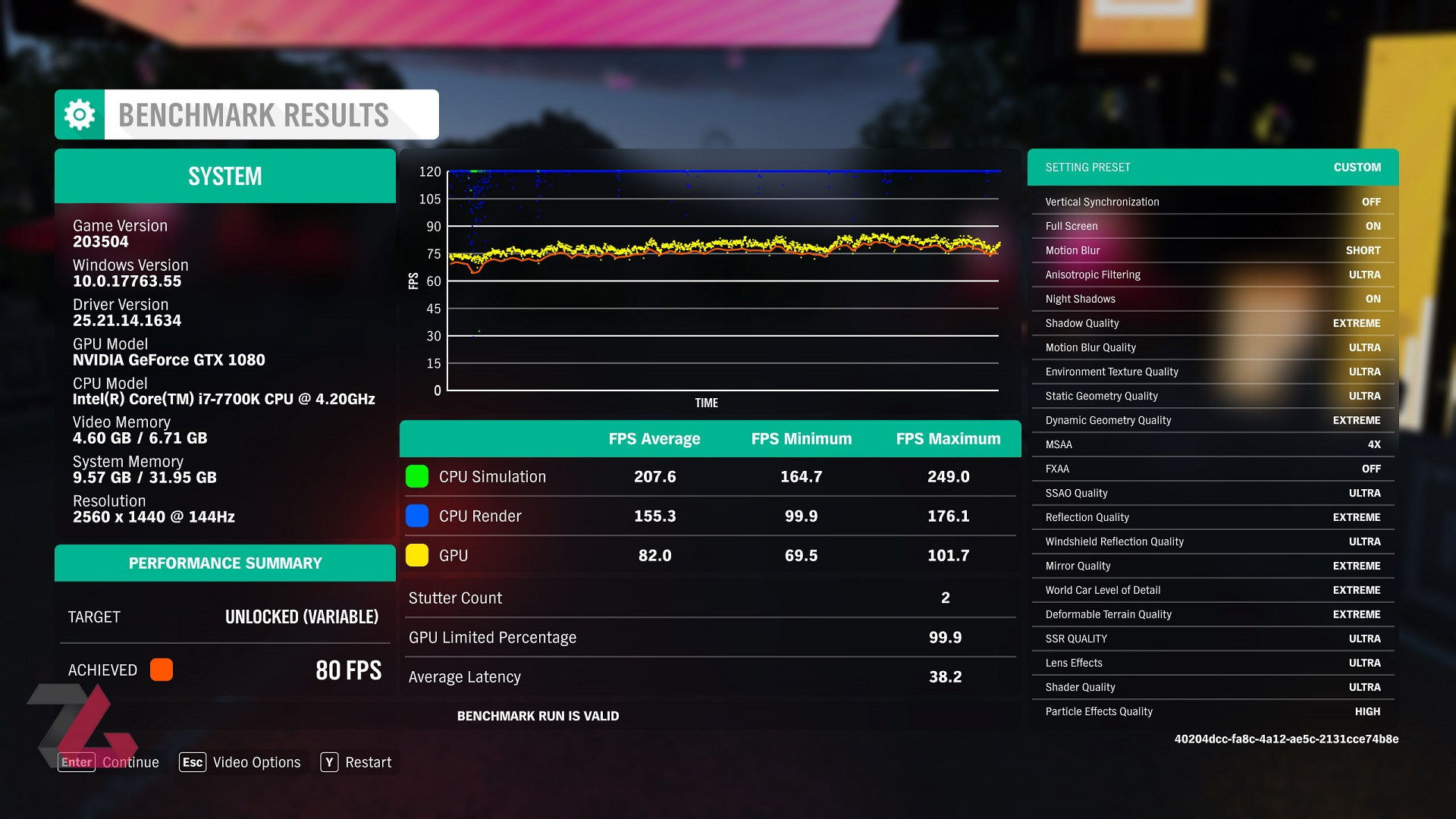 Forza Horizon 4 VIDEO BENCHMARK