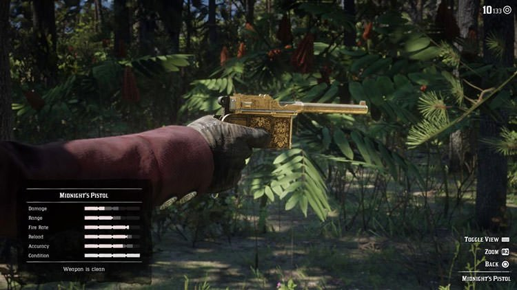 سلاح Midnight's Pistol بازی Red Dead REdemption 2