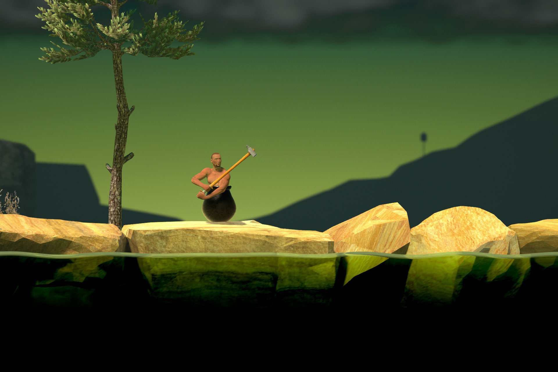 بررسی بازی موبایل Getting Over It with Bennett Foddy
