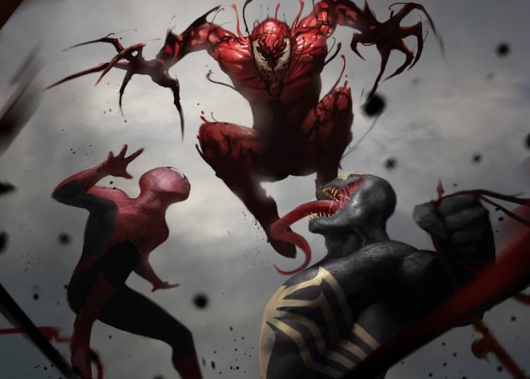 venom and carnage and spider-man