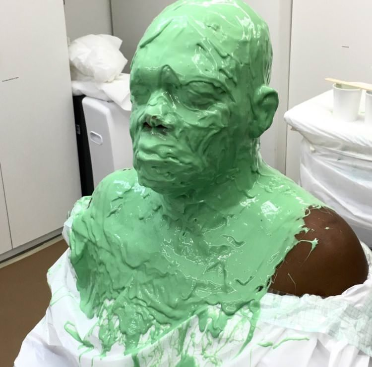 Samuel L. Jackson Captain Marvel Set Pic