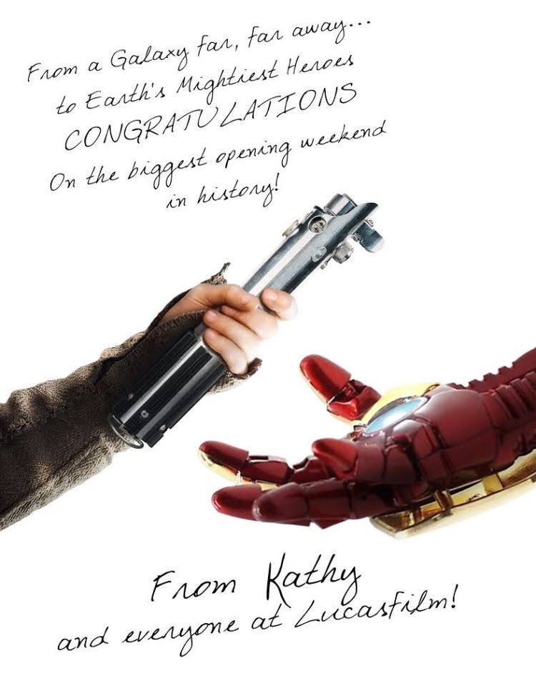 Star Wars Congratulates Avengers: Infinity War