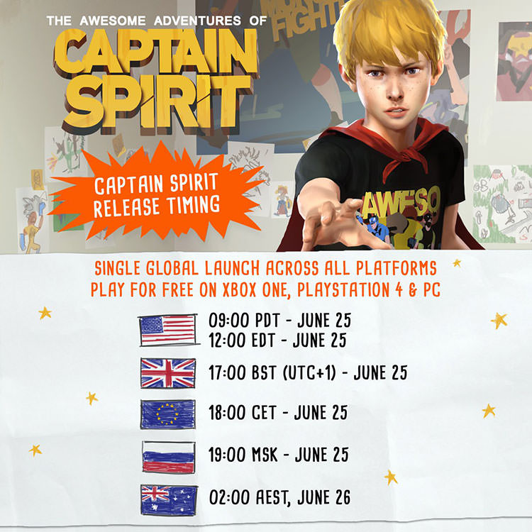 زمان عرضه The Awesome Adventures of Captain Spirit