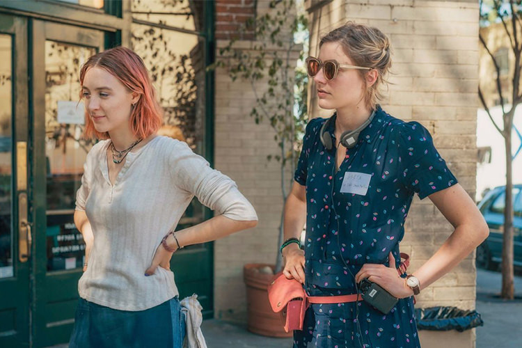 Greta Gerwig and Saoirse Ronan in Lady Bird