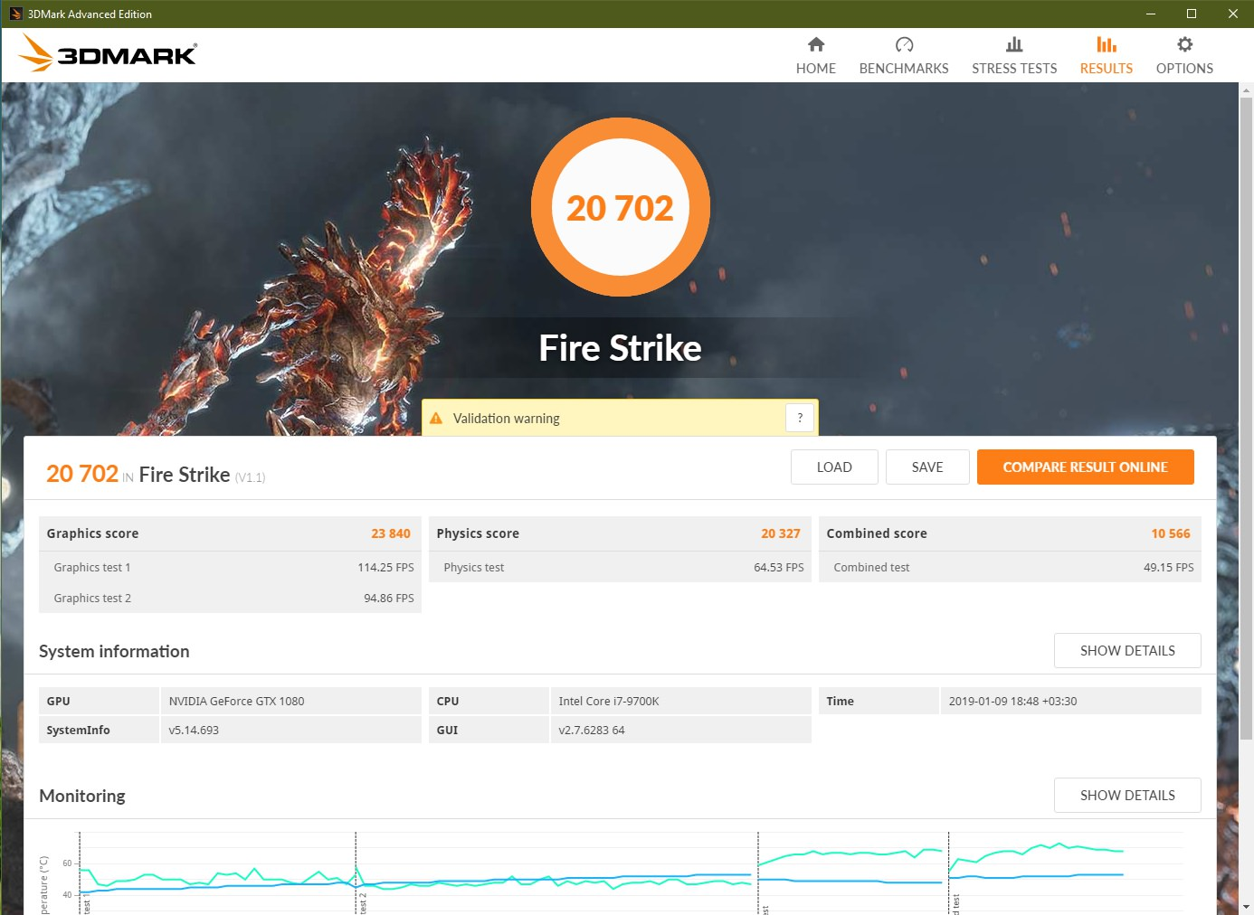 3DMark 2013 Fire Strike 9700K