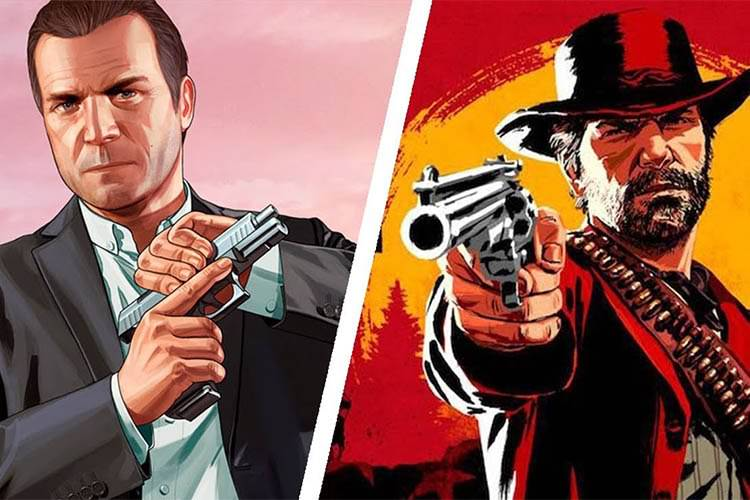 Grand Theft Auto V و Red Dead Redemption 2