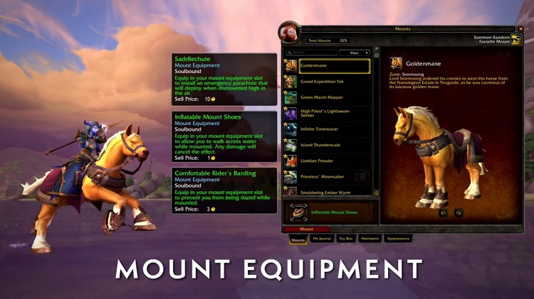 mount equipment