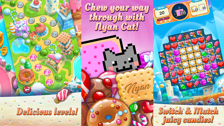 بازی Nyan Cat: Candy Match