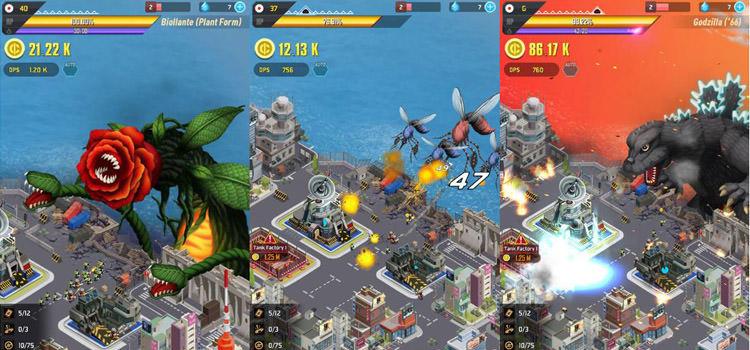 بازی موبایل Godzilla Defense Force